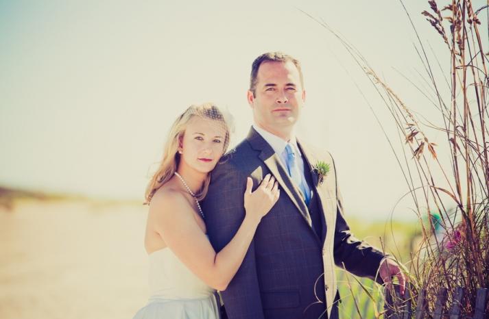 Romantic wedding portrait outdoor destination wedding