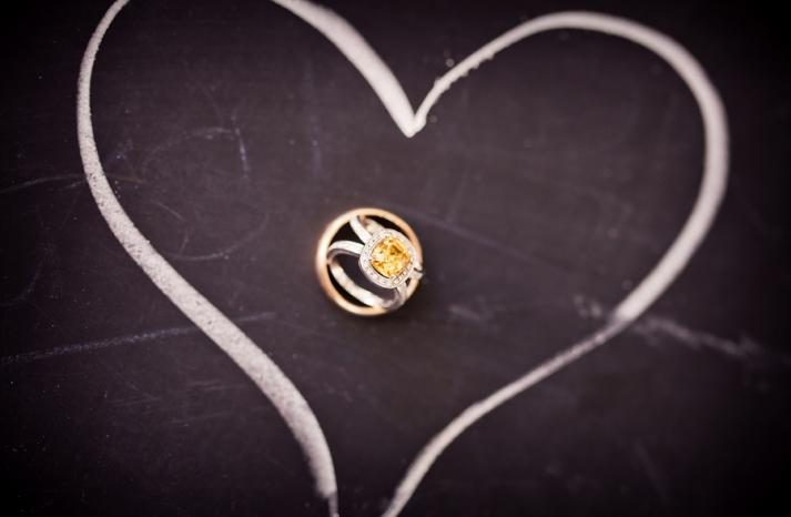 Unique wedding ring photo chalkboard backdrop