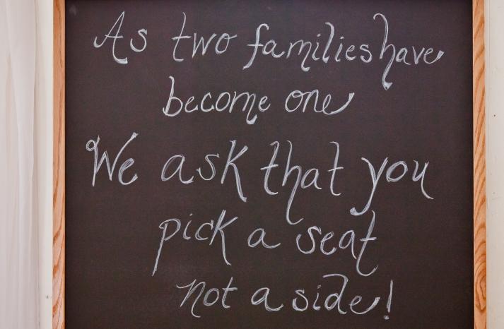 Seat Yourself wedding sign
