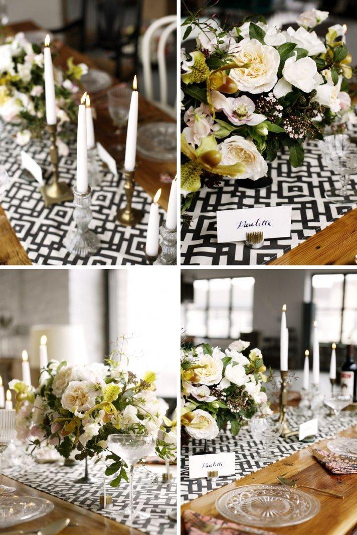 Custom wedding prints modern black and white