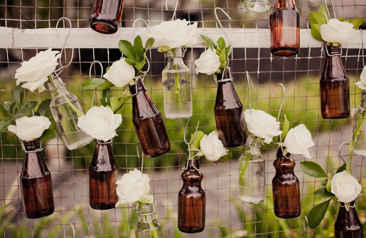 Wedding Decorating with Bottles
