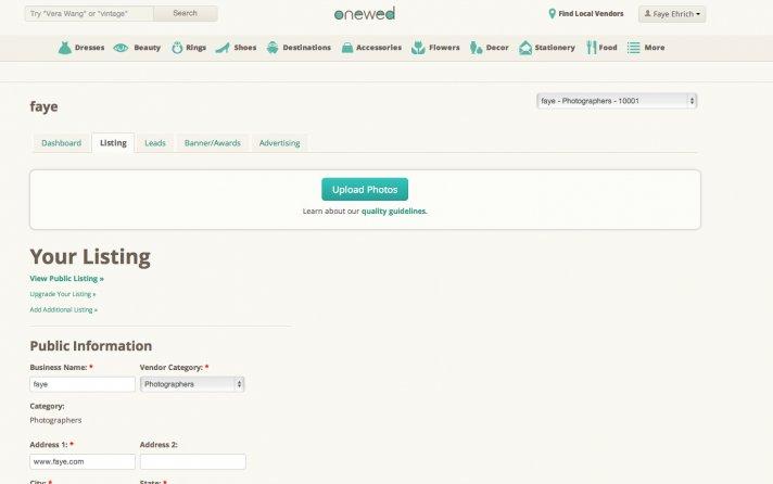 blog how to upload photos vendors dashboard photos listing tab