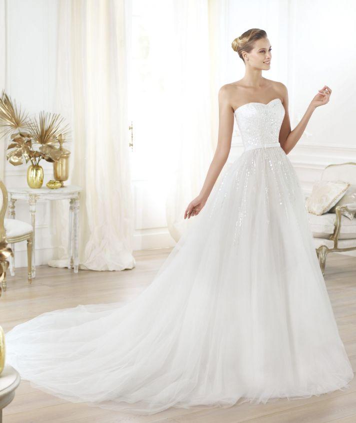 Pronovias wedding dress pre 2014 Glamour bridal collection Layna