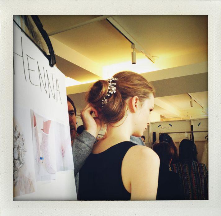 Oscar de la Renta Bridal Spring 2014 Wedding Dress Collection Backstage 6
