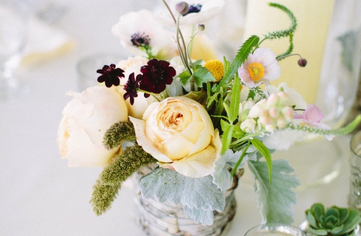 Whimsical spring wedding centerpiece 2
