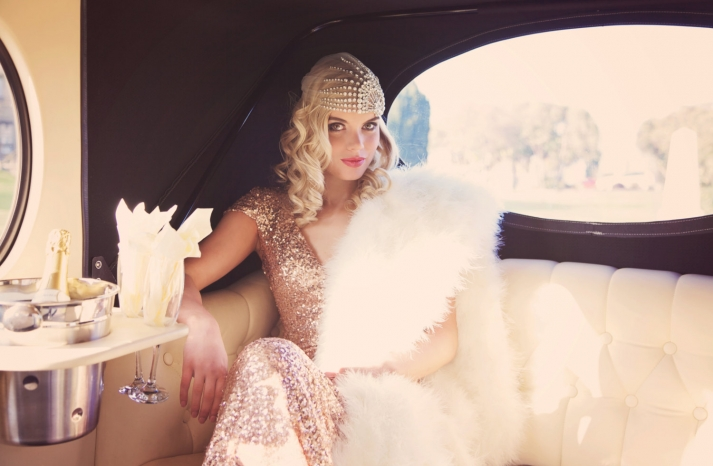 Vintage glam bride crystal wedding cap