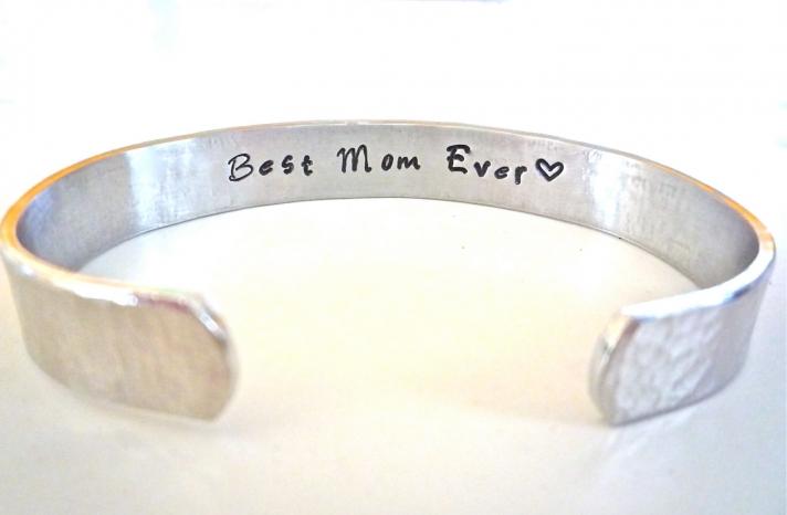 Best Mom Ever Silver Bracelet