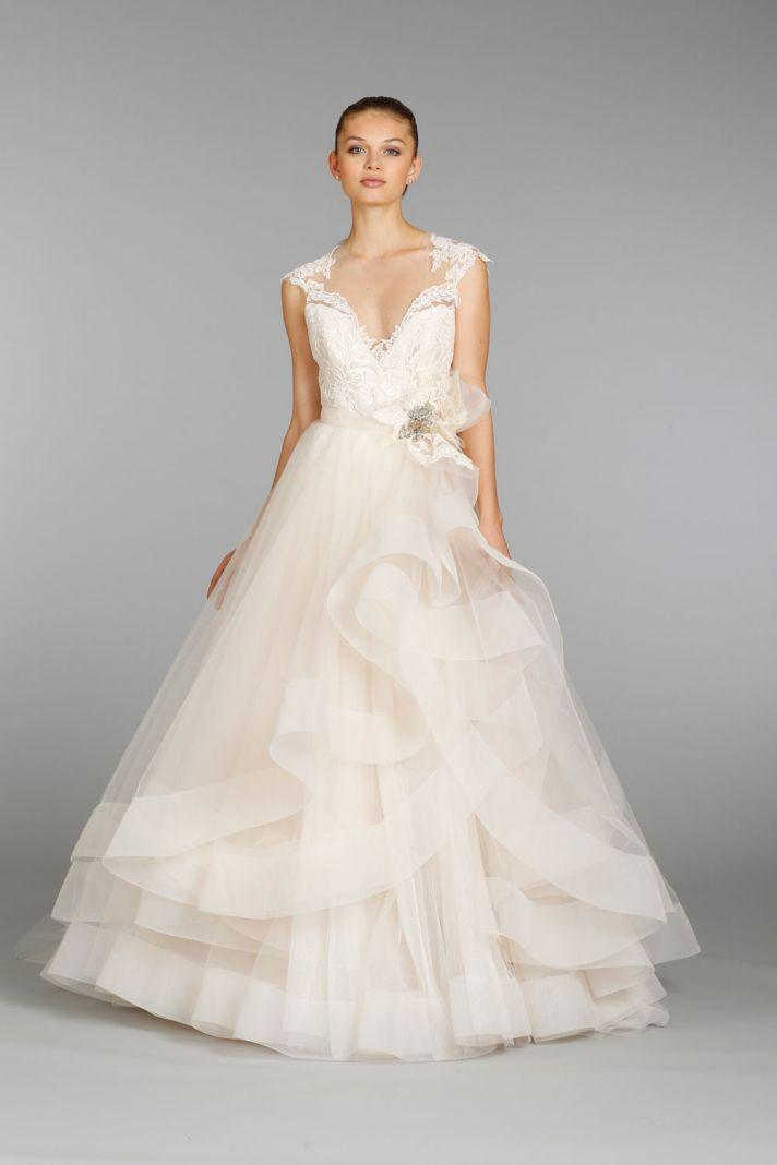 Blue And White Wedding Dress