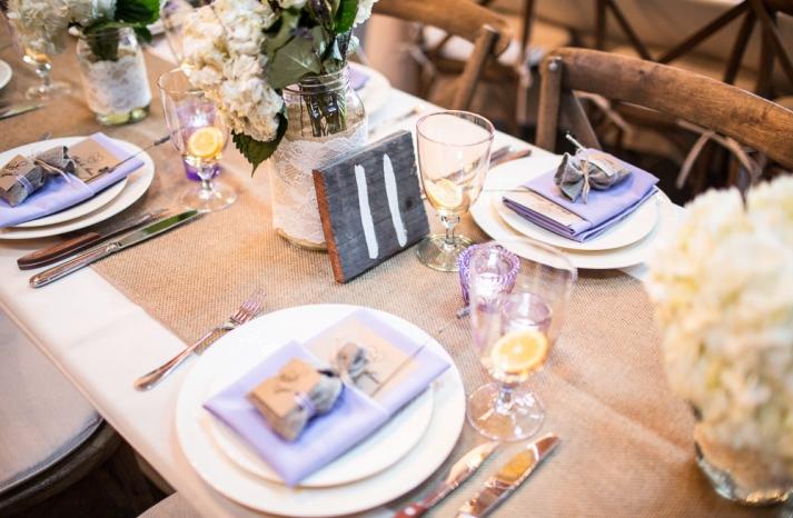 Rustic lavender wedding favors