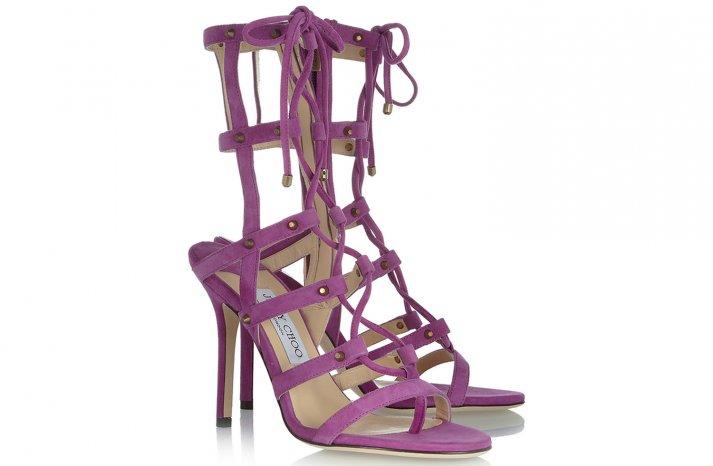Lavender suede Jimmy Choo Wedding Shoes