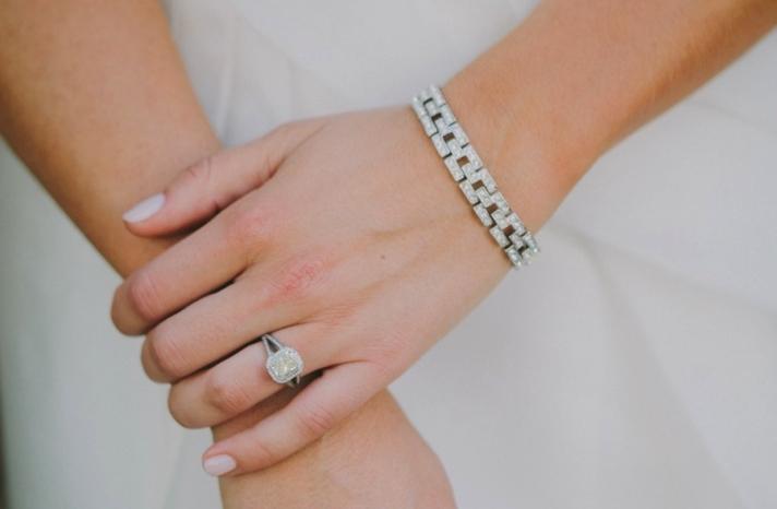 cushion cut engagement ring diamond bracelet