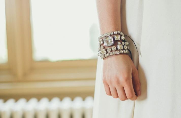 art deco bridal cuff bracelet