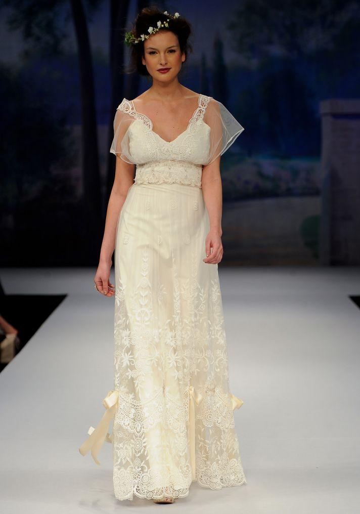Gatsby inspired wedding style bridal designers Claire Pettibone