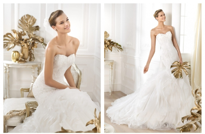 Pronovias wedding dress pre 2014 bridal Dreams collection Leiben