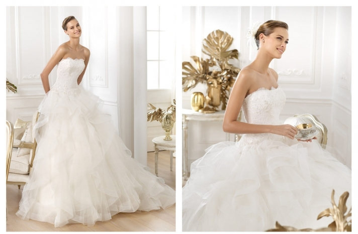 Pronovias wedding dress pre 2014 bridal Dreams collection Leante