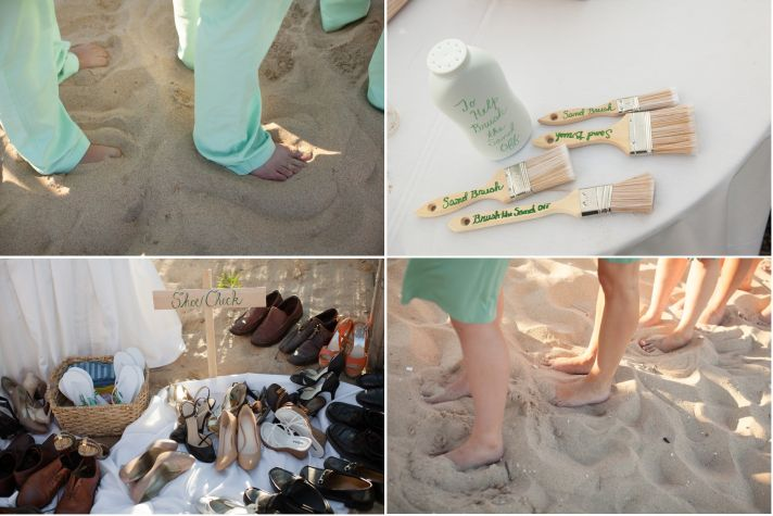 Real Wedding Long Island Throo Williams Photography by Verdi Ceremony Groomsment Bridesmaids Feet