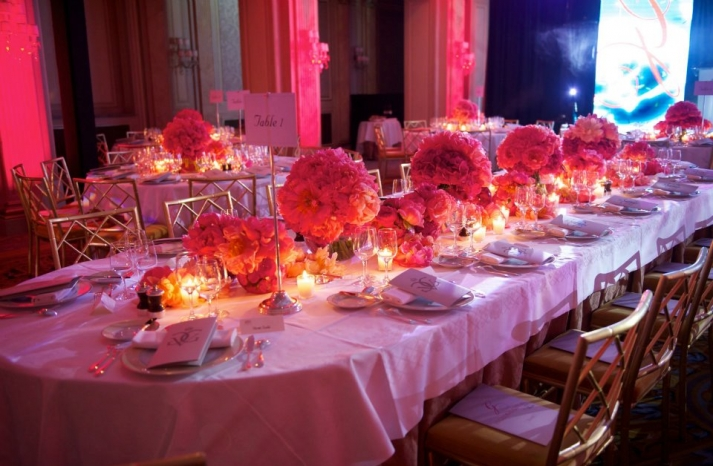 Eva Longoria Gala wedding flower inspiration