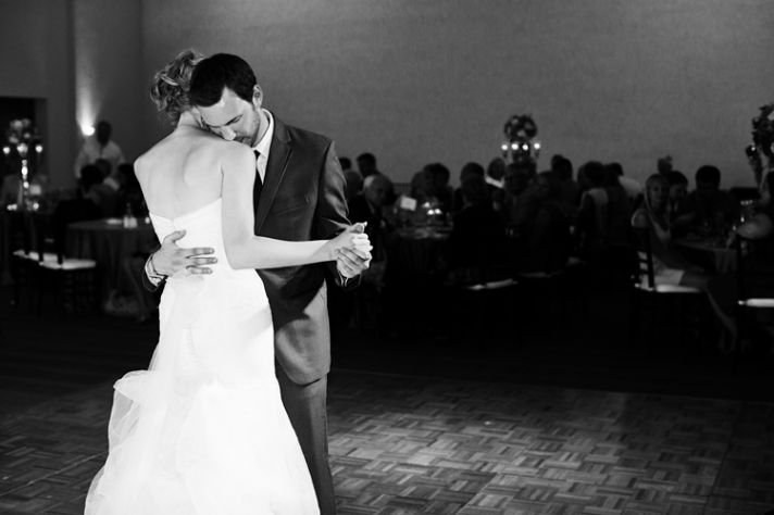 Bride and groom share first dance winery wedding in WI