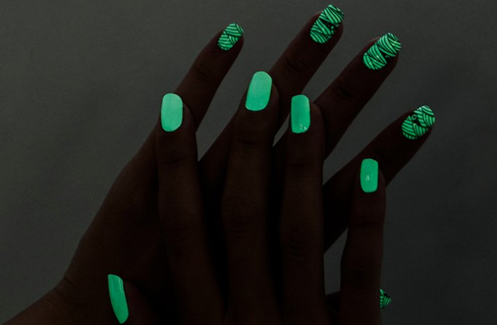 Glow in the dark nail polish strips offbeat brides