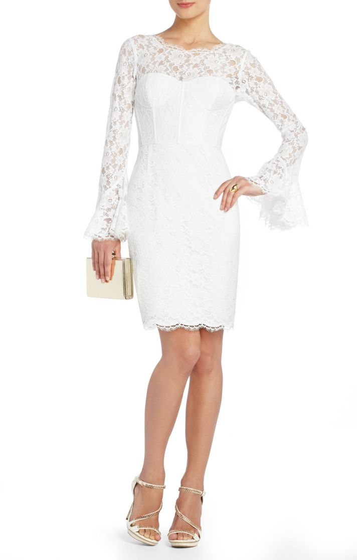 BCBG wedding dress Max Azria Bridal Salina short