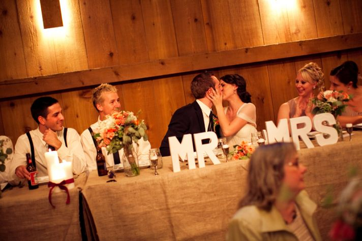 rustic barn wedding IL photographers reception table numbers and centerpieces