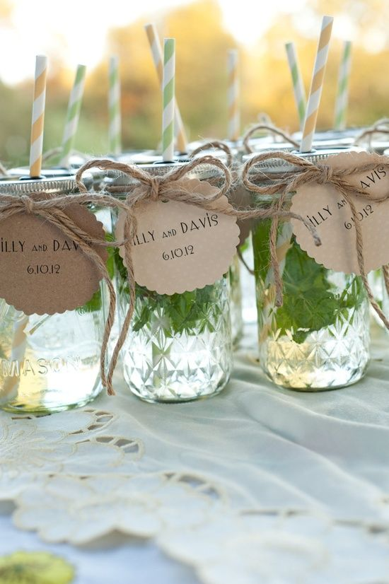 Wedding Party Favors 60 Beautiful Mason Jar wedding favors