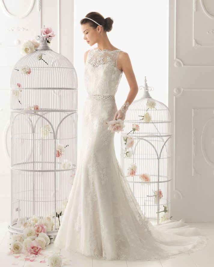 25 timeless wedding gowns from aire barcelona 2014 onewed for Barcelona wedding dress designer