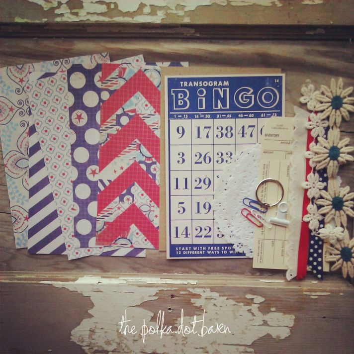 July 4th Bingo for wedding reception fun