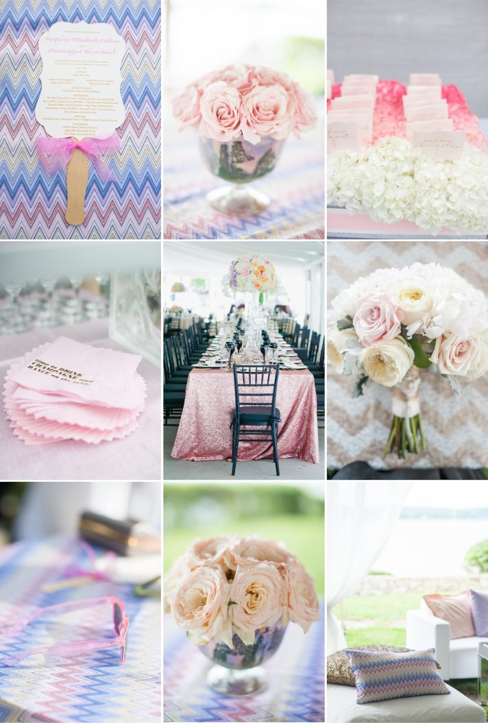 Summer wedding inspiration pastels with prints and patterns