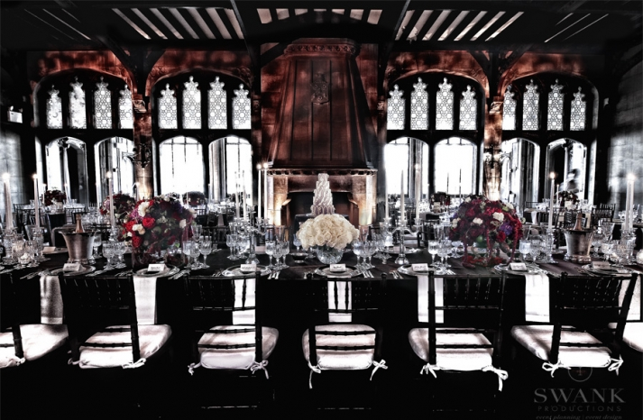 Great Gatsby Luxe wedding reception room