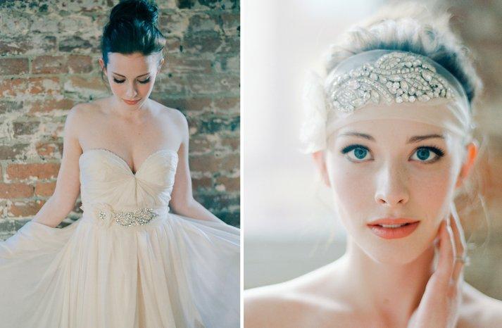 Stunning wedding veils and headpieces by Serephine 2