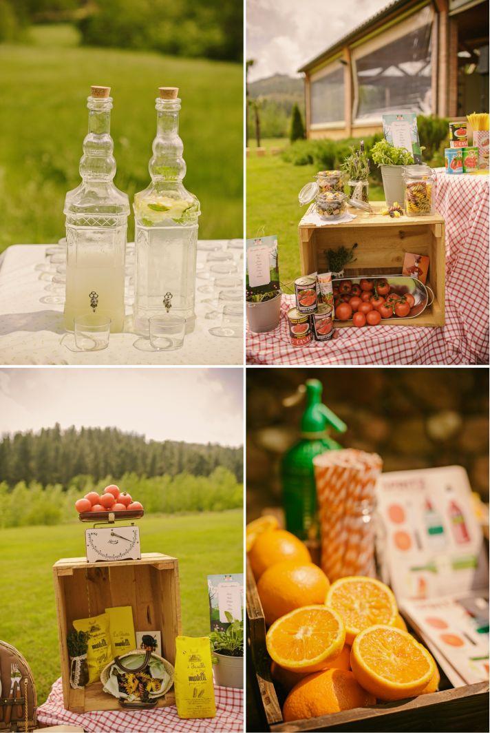 Real Spanish Wedding Otaduy Wedding Dress Outdoor Romantic Reception Treats Decor 2