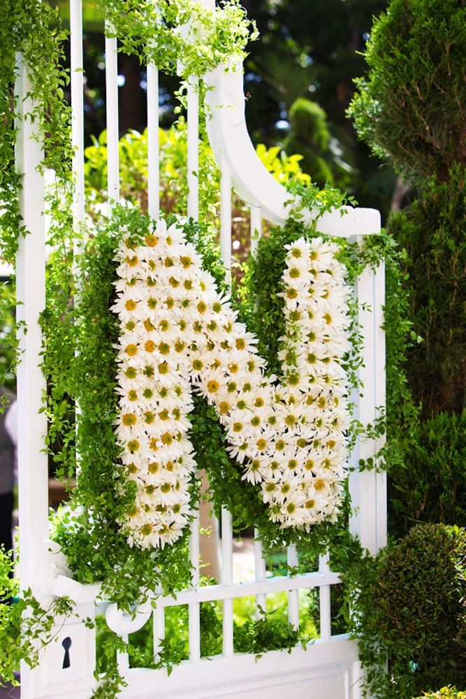 daisy flower wedding initials
