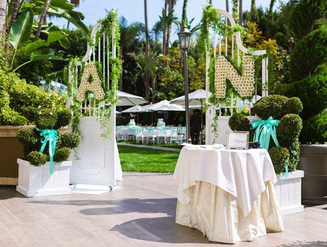 daisy flower wedding initials