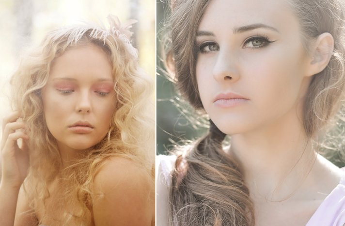Soft and romantic wedding makeup for fall 2013