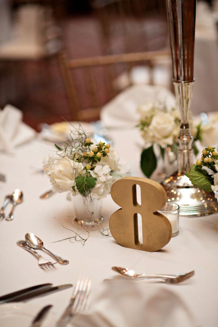 Elegant wedding reception setup for classic Florida nups