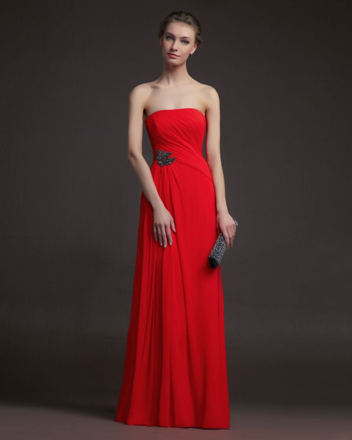 Red Wedding Gowns 2014: Bridesmaids Gone Chic