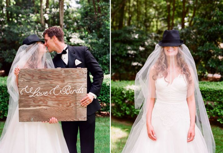 Hats as wedding favors outdoor elegant reception
