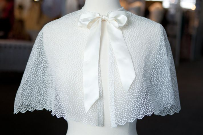 Elegant Stella evening cape for brides