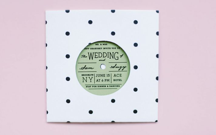 vintage retro interactive wedding invitation