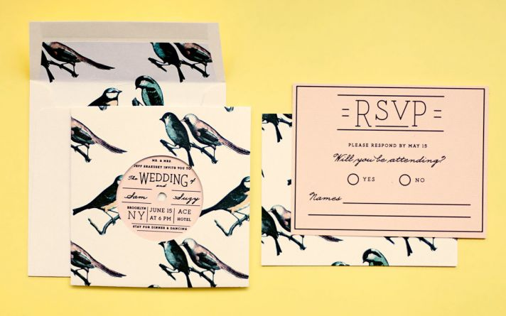 vintage retro interactive wedding invitation