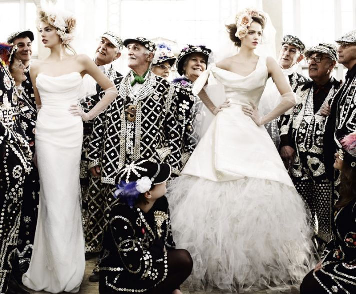 Vivienne Westwood wedding gowns featured in Vogue