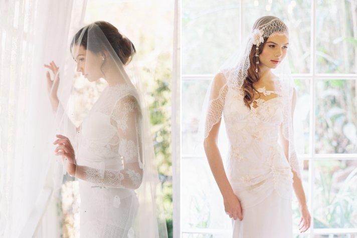 Beautiful bridal veils and wedding hair accessories by Erica Elizabeth Design