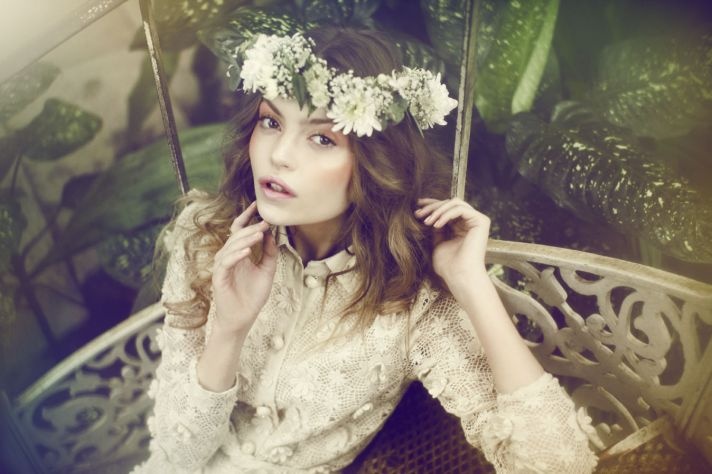 ethereal wedding hair and makeup for romantic bohemian brides