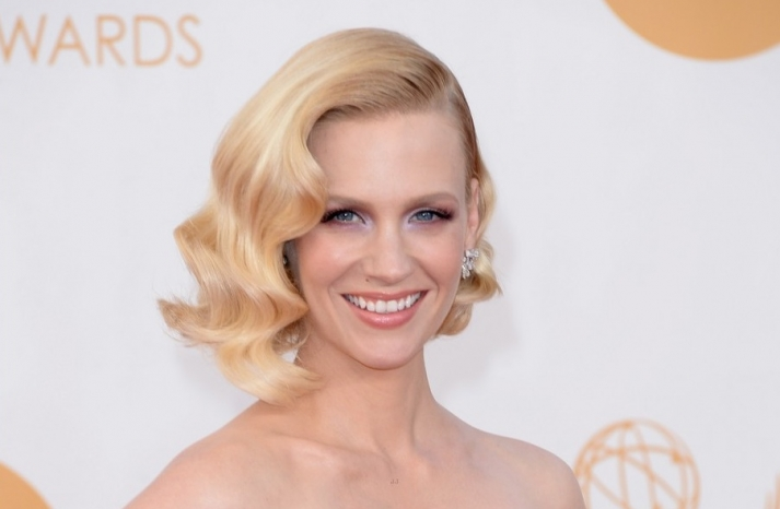 2013 Emmys wedding hair and makeup inspiration January Jones