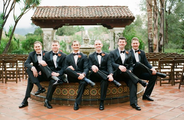 Real wedding in Simi Valley California dapper groom and rad vintage ride