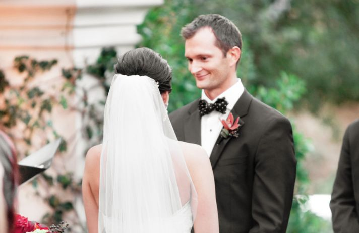 Real wedding in Simi Valley California ceremony vows