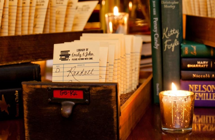 unique eco wedding guest book idea