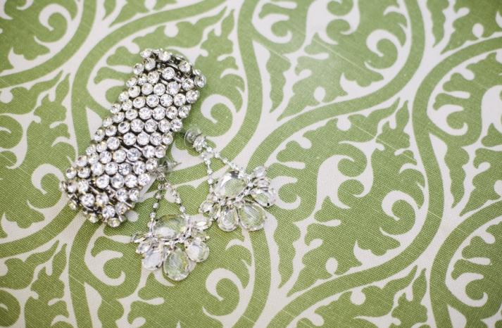 Bright summer wedding sparkly bridal jewelry