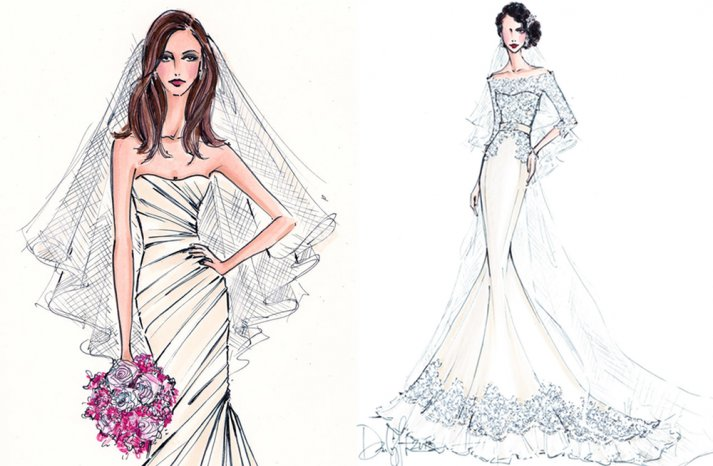 wedding gown illustrations to treasure forever